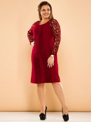 Сукня бордова | 4669852