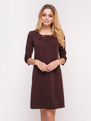 Платье шоколадного цвета | 4658439