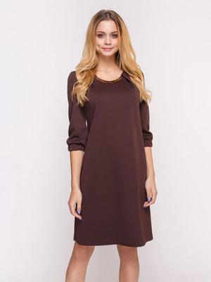 Сукня шоколадного кольору | 4658432