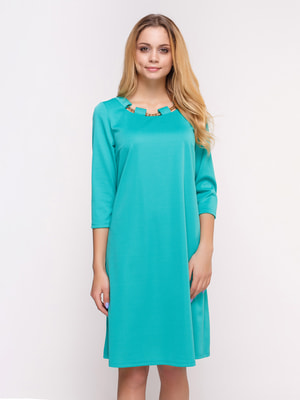 Платье бирюзовое | 4658429