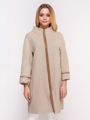 Пальто кремового кольору | 4658392