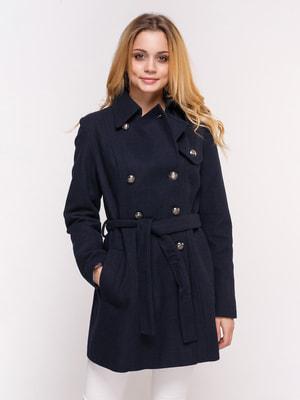 Пальто темно-синее | 4658400