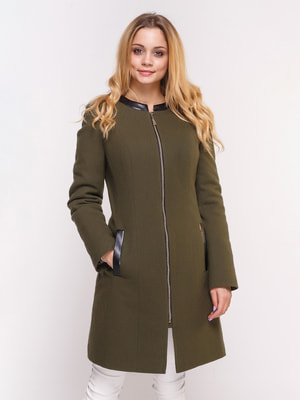Пальто оливкового кольору | 4658406