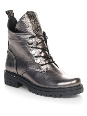 Ботинки серебристого цвета | 4660654