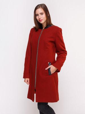 Пальто бордовое | 4658407