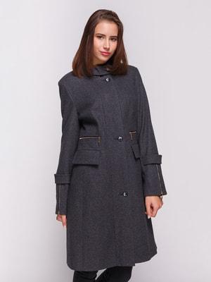 Пальто темно-серое | 4658405