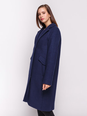 Пальто темно-синее | 4658409