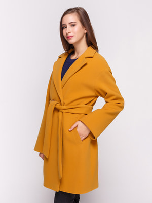 Пальто горчичного цвета | 4658401