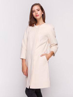 Пальто молочного цвета | 4658397