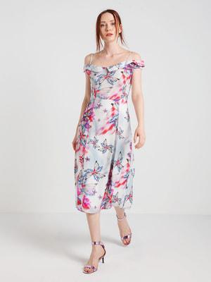 Платье в цветочный принт | 4168107