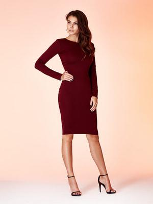 Платье бордовое | 4676135
