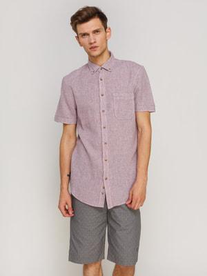 Рубашка темно-розовая в клетку | 4670665