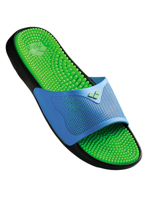 Шлепанцы зелено-голубые | 4651256