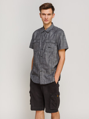 Рубашка темно-серая | 4670653