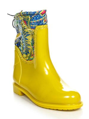 Сапоги желтые с принтом | 3555765