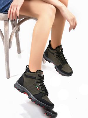 Ботинки цвета хаки | 4678131