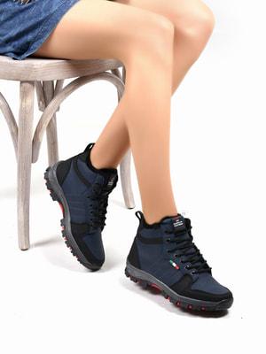 Ботинки темно-синие | 4678132