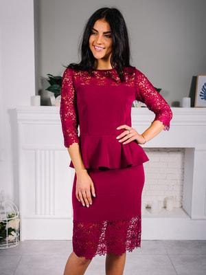 Сукня кольору марсала   4679155