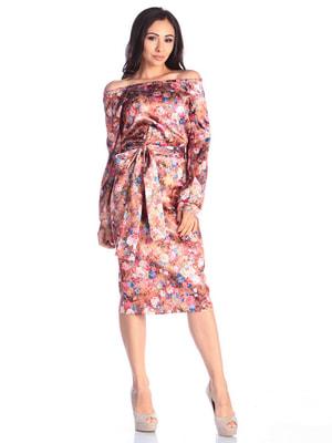 Платье в цветочный принт | 4636857
