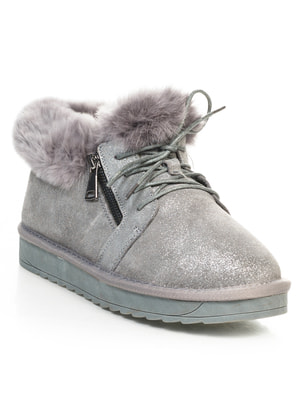 Ботинки серые | 4648992