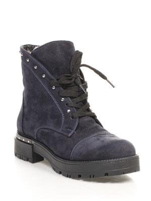 Ботинки темно-синие | 4649065