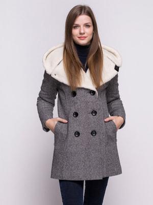 Пальто черно-белое | 4683546