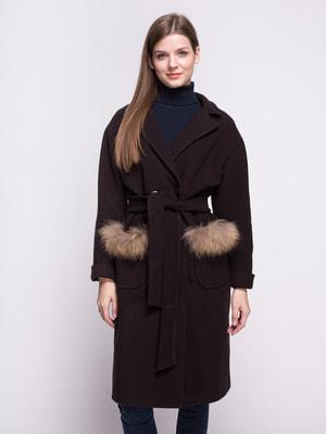Пальто коричневе | 4658388