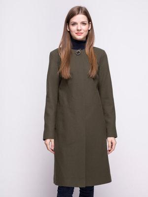 Пальто оливкового цвета | 4683543