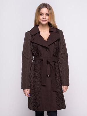 Пальто коричневое | 4683544