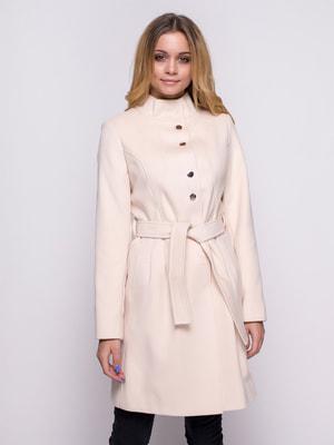 Пальто молочного цвета | 4492613