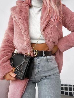 Полушубок розовый | 4685531
