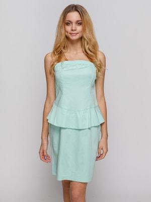 Платье мятного цвета | 4620363