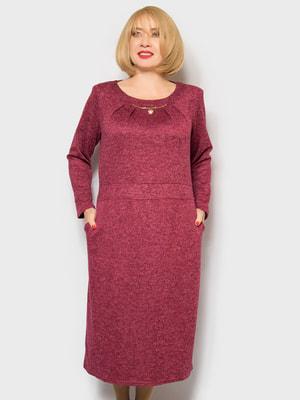 Платье бордовое | 4688803