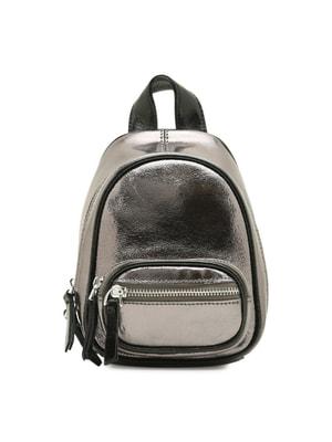Сумка-рюкзак серебристая | 4689039