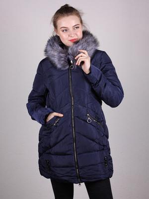 Пальто темно-синє | 4690642