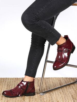 Ботинки бордовые | 4690961