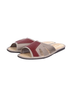 Тапочки красно-серые | 4692041