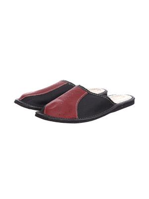 Тапочки чорно-червоні | 4692042