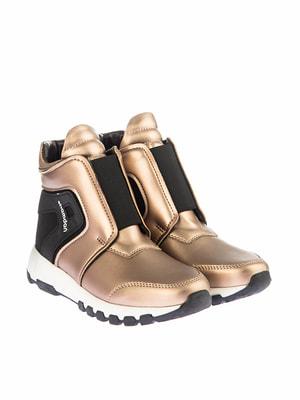 Ботинки золотисто-черные   4691409