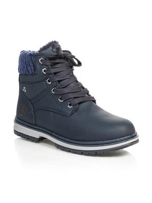 Ботинки темно-синие | 4690732