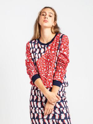 Блуза триколірна   4690778
