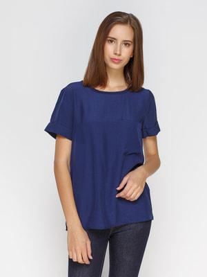 Блуза темно-синяя | 4653481