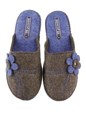 Тапочки сіро-сині | 4694980