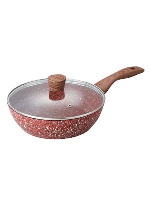 Сковорода с гранитным покрытием и крышкой (28 см) | 4694525