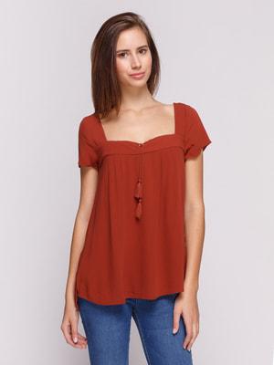 Блуза терракотового цвета | 4652808