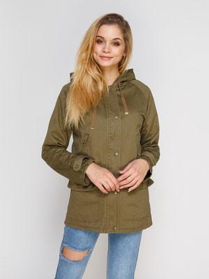 Куртка цвета хаки   4654937