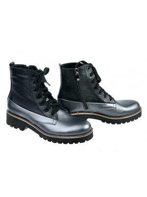 Ботинки графитово-черные | 4695690