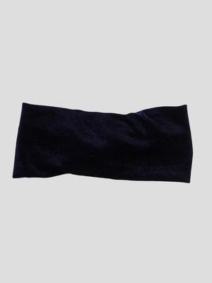 Пов'язка на голову темно-синя | 4647243