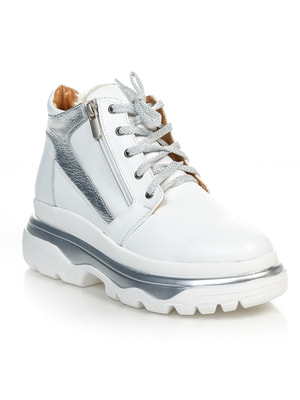 Ботинки серебристо-белые   4691079