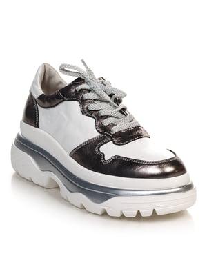 Ботинки серебристо-белые | 4691078